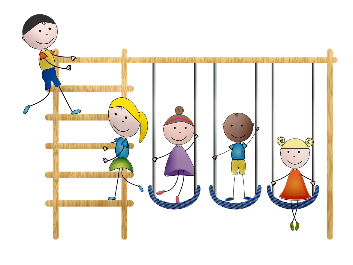Ladder with swings - childrens-playground